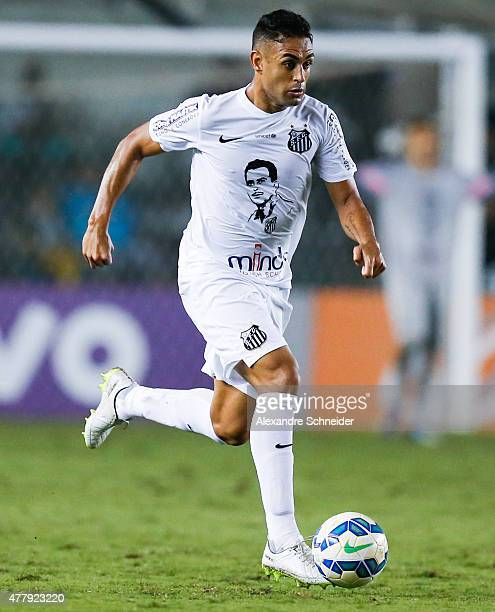 Werley of Santos in action during the match between Santos and Corinthians for the Brazilian Series A 2015 at Vila Belmiro stadium on June 20 2015 in...