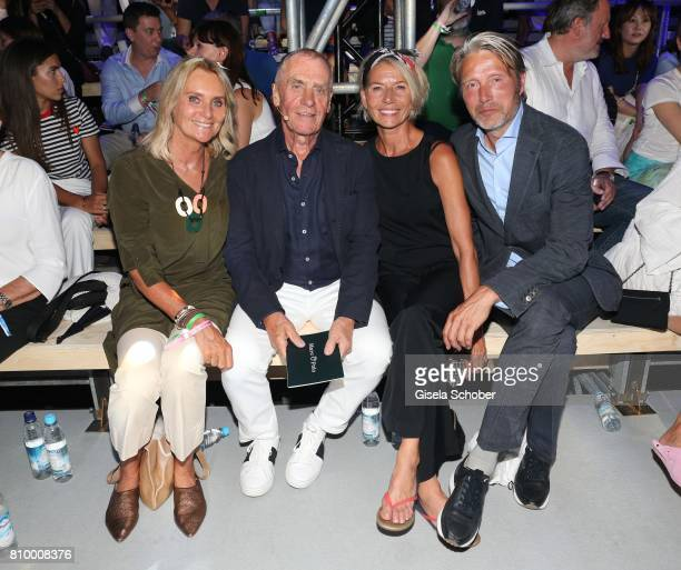 Werner Boeck Owner of Marc O'Polo and his wife Elfi and Mads Mikkelsen and his wife Hanne Jacobsen during the 50th anniversary celebration of Marc...
