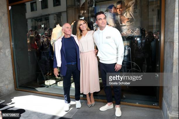 Werner Boeck Owner of MarcO'Polo Robbie Williams and his wife Ayda Williams attend the launch of the Marc O'Polo 50th anniversary special edition...