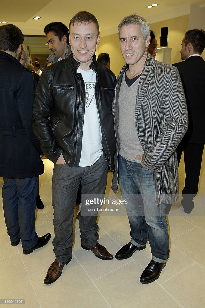 Werner Daehn and Ralph Herforth attends the Rolls-Royce Motorcars Berlin Opening on November 24, 2012 in Berlin, Germany.