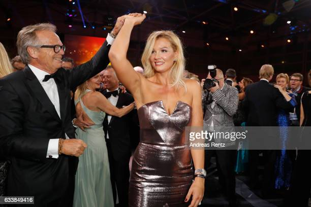 Werner E Klatten and Franziska van Almsick dance during the German Sports Gala 'Ball des Sports 2017' on February 4 2017 in Wiesbaden Germany