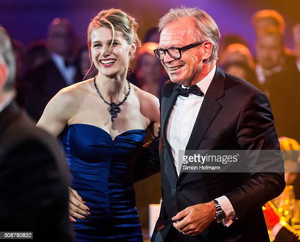 Werner E Klatten dances with Britta Heidemann during the German Sports Gala 'Ball des Sports 2016' on February 6 2016 in Wiesbaden Germany