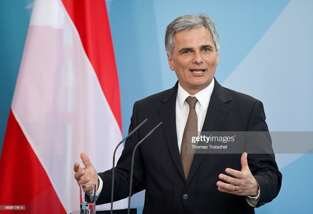 Werner Faymann Chancellor of the Republic of Austria on March 02 2011 in Berlin Germany