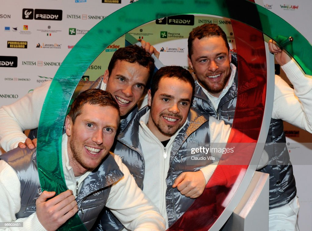 Werner Heel, Christoph Innerhofer, Peter Fill and Patrick Staudacher during the press conference at Casa Italia on February 11, 2010 in Vancouver, Canada.