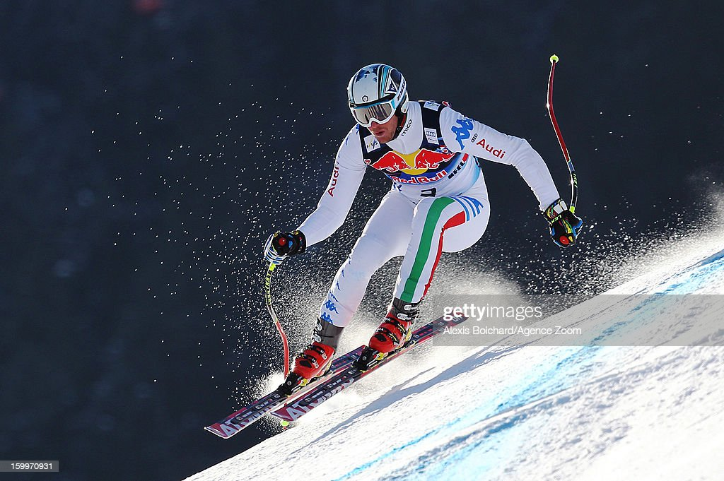 <a gi-track='captionPersonalityLinkClicked' href=/galleries/search?phrase=Werner+Heel&family=editorial&specificpeople=858153 ng-click='$event.stopPropagation()'>Werner Heel</a> of Italy competes during the Audi FIS Alpine Ski World Cup Men's Downhill Training on January 24, 2013 in Kitzbuehel, Austria.