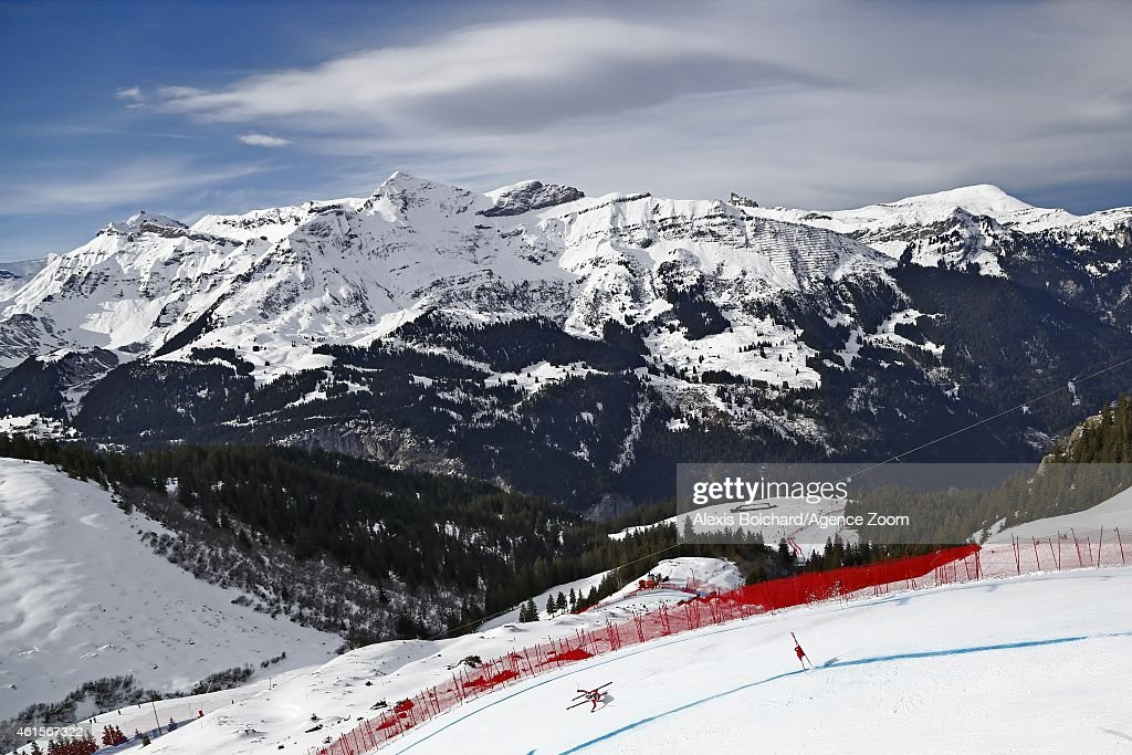 Werner Heel of Italy competes during the Audi FIS Alpine Ski World Cup Men's Downhill Training on January 15 2015 in Wengen Switzerland