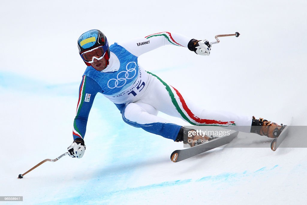 <a gi-track='captionPersonalityLinkClicked' href=/galleries/search?phrase=Werner+Heel&family=editorial&specificpeople=858153 ng-click='$event.stopPropagation()'>Werner Heel</a> of Italy competes in the men's alpine skiing downhill practice held at Whistler Creekside ahead of the Vancouver 2010 Winter Olympics on February 10, 2010 in Whistler, Canada.