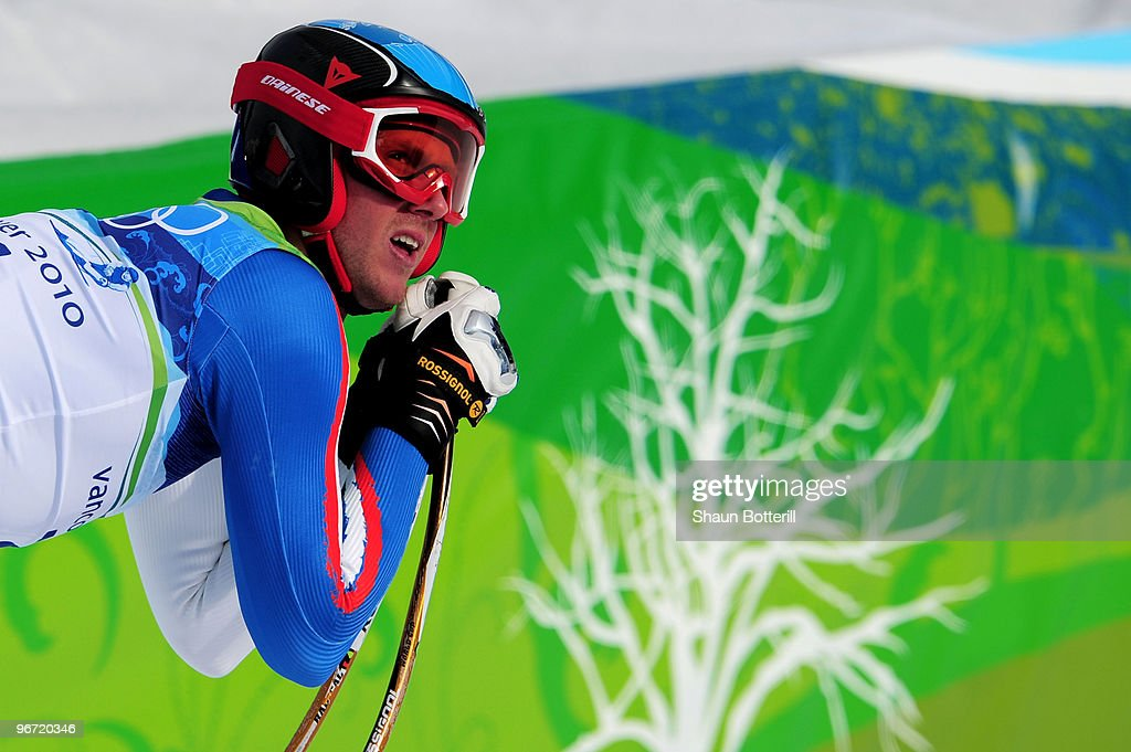 <a gi-track='captionPersonalityLinkClicked' href=/galleries/search?phrase=Werner+Heel&family=editorial&specificpeople=858153 ng-click='$event.stopPropagation()'>Werner Heel</a> of Italy looks on after competing in the Alpine skiing Men's Downhill at Whistler Creekside during the Vancouver 2010 Winter Olympics on February 15, 2010 in Whistler, Canada.