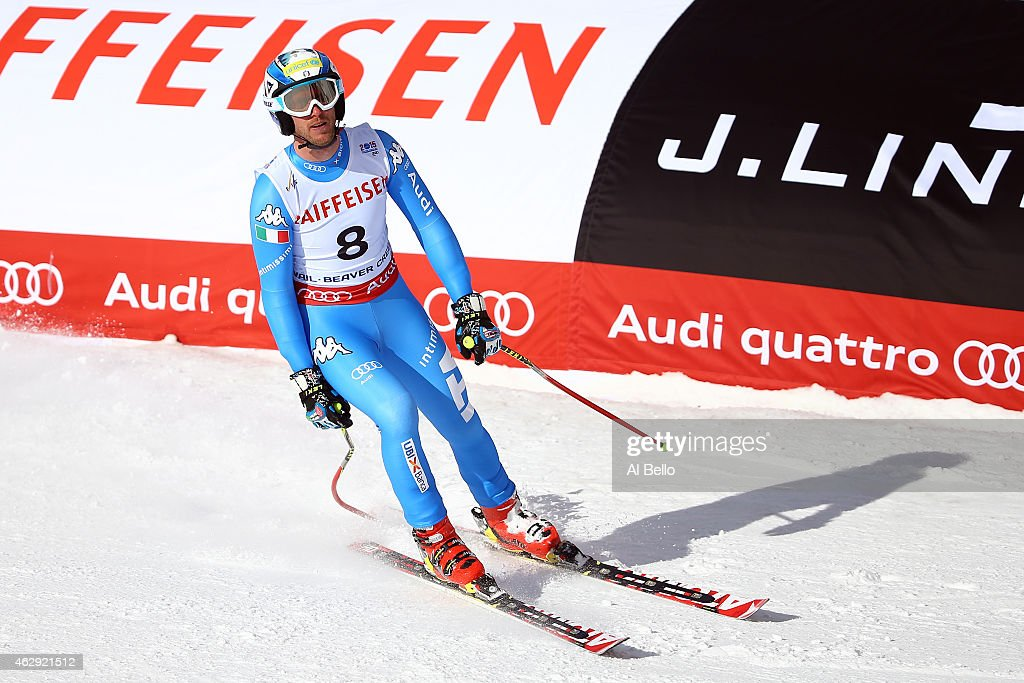 <a gi-track='captionPersonalityLinkClicked' href=/galleries/search?phrase=Werner+Heel&family=editorial&specificpeople=858153 ng-click='$event.stopPropagation()'>Werner Heel</a> of Italy reacts after crossing the finish of the Men's Downhill in Red Tail Stadium on Day 6 of the 2015 FIS Alpine World Ski Championships on February 7, 2015 in Beaver Creek, Colorado.