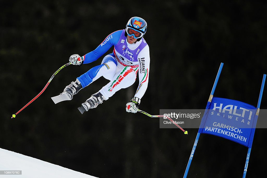 <a gi-track='captionPersonalityLinkClicked' href=/galleries/search?phrase=Werner+Heel&family=editorial&specificpeople=858153 ng-click='$event.stopPropagation()'>Werner Heel</a> of Italy skis in the Men's Downhill Training during the Alpine FIS Ski World Championships on the Kandahar course on February 10, 2011 in Garmisch-Partenkirchen, Germany.