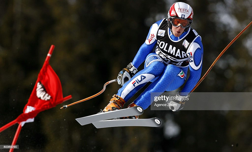 Werner Heel of Italy takes 1st place during the Alpine FIS Ski World Cup Men's Downhill on February 29, 2008 in Kvitfjell, Norway.
