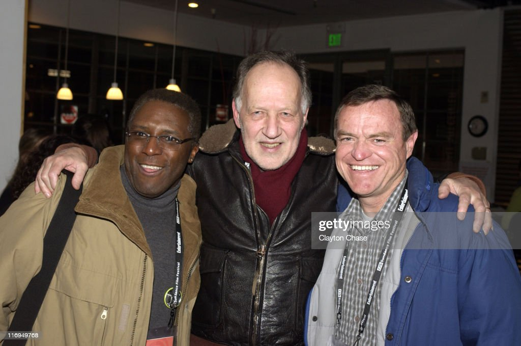 Werner Herzog and guests during 2005 Sundance Film Festival Alfred P Sloan Foundation Reception at Kimball Arts Center in Park City Utah United States