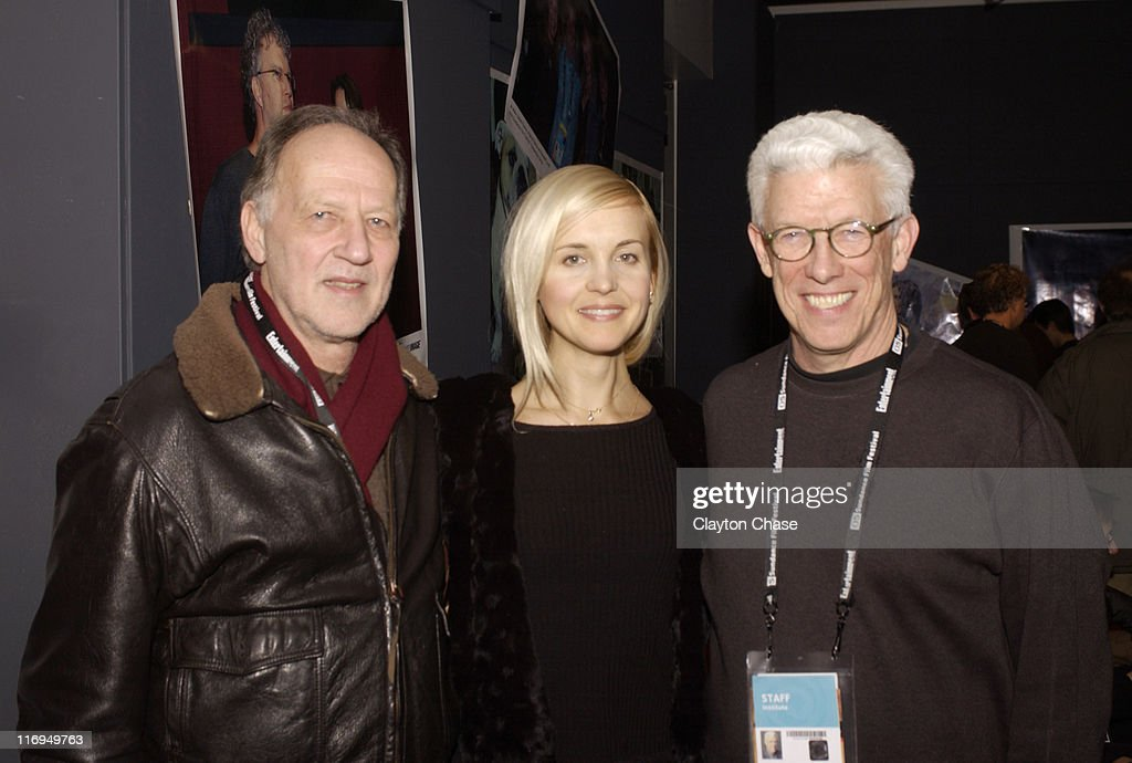 Werner Herzog Lena Herzog adn Ken Brecher during 2005 Sundance Film Festival Alfred P Sloan Foundation Reception at Kimball Arts Center in Park City...