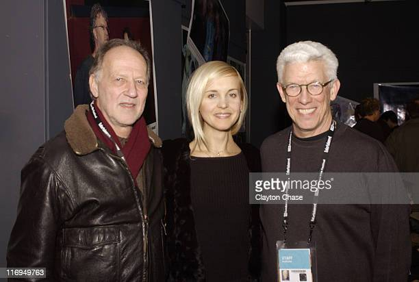 Werner Herzog Lena Herzog adn Ken Brecher during 2005 Sundance Film Festival Alfred P Sloan Foundation Reception at Kimball Arts Center in Park City...