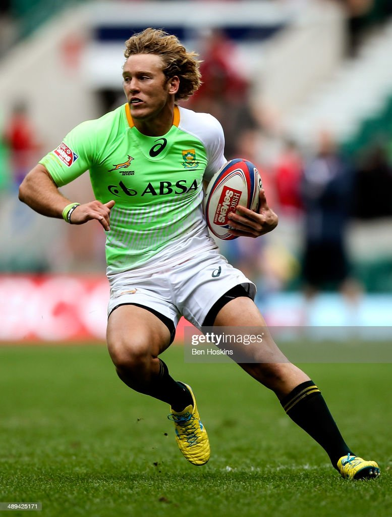Werner Kok of South Africa in action during the Marriott London Sevens match between Scotland and South Africa at Twickenham Stadium on May 10 2014...