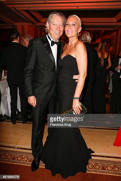 Werner Mang and Natascha Ochsenknecht attend the German Film Ball 2015 on January 17 2015 in Munich Germany