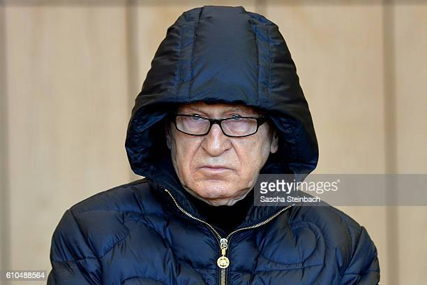 Werner Mauss a former secret agent for German police and intelligence services arrives for the first day of his trial for tax evasion at the...