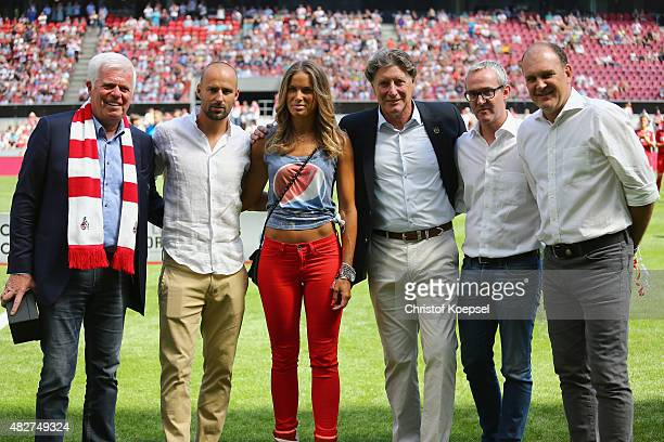Werner Spunner president of Koeln Toni Shcumacher vicepresident of Koeln chairman Alexander Wehrle of Koeln and sporting director Joerg Schmadtke of...