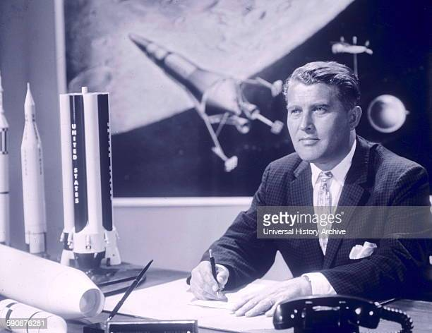 Werner von Braun German aerospace engineer credited with inventing the V2 Rocket and the SaturnV for Nazi Germany and the United States respectively...