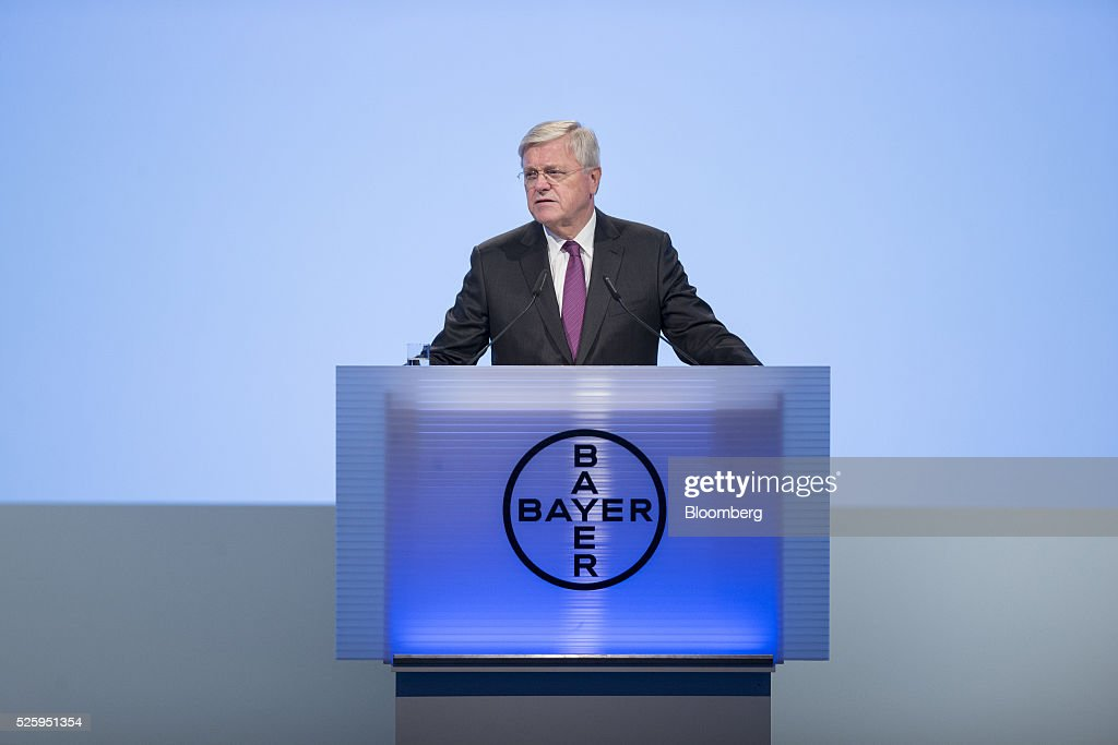 <a gi-track='captionPersonalityLinkClicked' href=/galleries/search?phrase=Werner+Wenning&family=editorial&specificpeople=552600 ng-click='$event.stopPropagation()'>Werner Wenning</a>, chairman of Bayer AG, speaks during the drugmaker's annual general meeting in Cologne, Germany, on Friday, April 29, 2016. Bayer, Germany's largest company, reported first-quarter profit that beat analysts' estimates as top-selling drugs Xarelto and Eylea continued to soar. Photographer: Jasper Juinen/Bloomberg via Getty Images