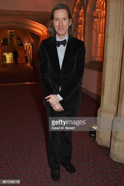 Wes Anderson attends the BFI and IWC Luminous Gala at The Guildhall on October 3 2017 in London England