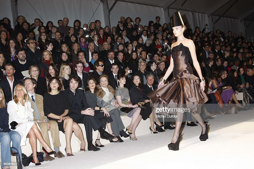 Wes Anderson Maggie Gyllenhaal Antoine Arnault Sofia Coppola Lee Radziwill Gemma Arterton Ziyi Zhang Yves Carcelle attends the Louis Vuitton Fashion...