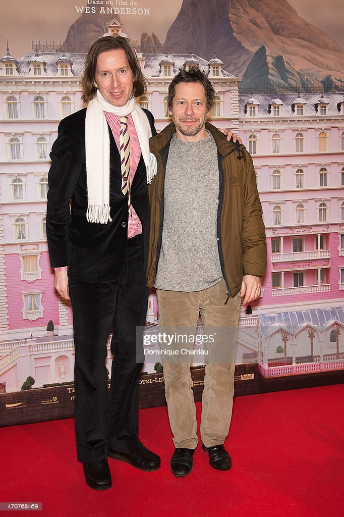 <a gi-track='captionPersonalityLinkClicked' href=/galleries/search?phrase=Wes+Anderson&family=editorial&specificpeople=217728 ng-click='$event.stopPropagation()'>Wes Anderson</a>, <a gi-track='captionPersonalityLinkClicked' href=/galleries/search?phrase=Mathieu+Amalric&family=editorial&specificpeople=612979 ng-click='$event.stopPropagation()'>Mathieu Amalric</a> attend the 'The Grand Budapest Hotel' Paris Premiere at Cinema Gaumont Opera on February 20, 2014 in Paris, France.