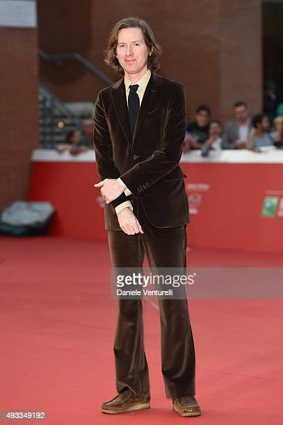 Wes Anderson walks the red carpet during the 10th Rome Film Fest at Auditorium Parco Della Musica on October 19 2015 in Rome Italy