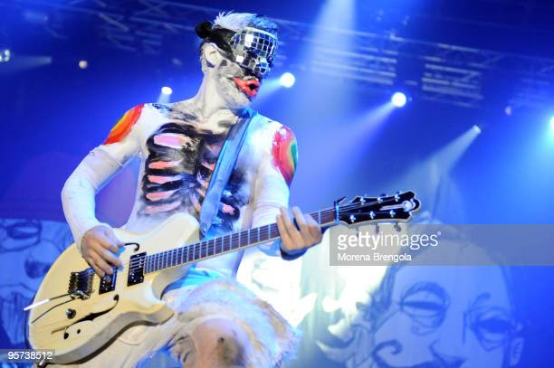 Wes Borland of Limp Bizkit performs at Palasharp on June 14 2009 in Milan Italy