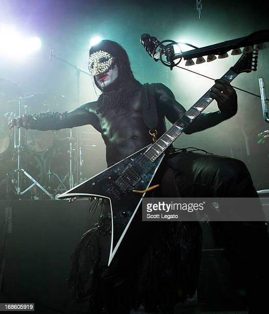 Wes Borland of Limp Bizkit performs at Saint Andrews Hall on May 11 2013 in Detroit Michigan