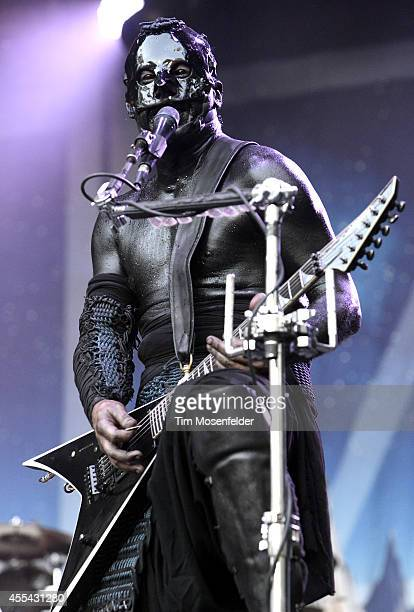 Wes Borland of Limp Bizkit performs during the Monster Energy Aftershock Music Festival at Discovery Park on September 13 2014 in Sacramento...