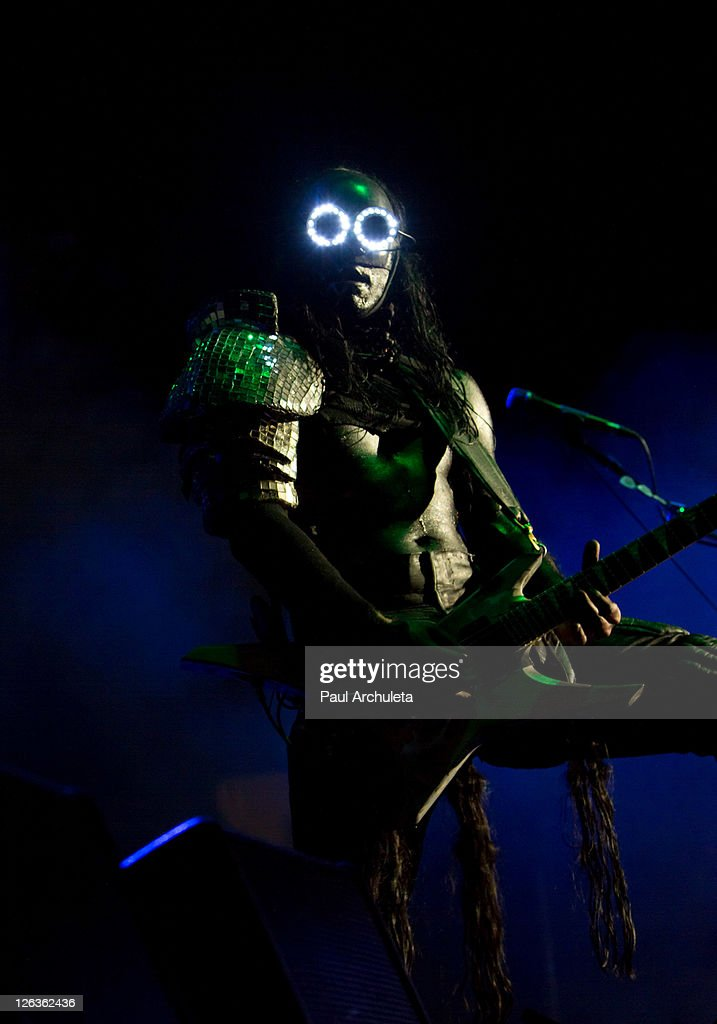 Wes Borland of Limp Bizkit performs live at EPICENTER Southern California's Rock Festival at Verizon Wireless Amphitheater on September 24, 2011 in Irvine, California.