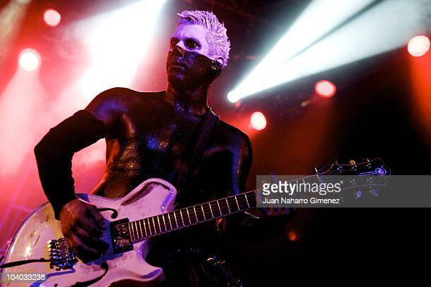Wes Borland of Limp Bizkit performs live on the stage at La Riviera on September 12 2010 in Madrid Spain
