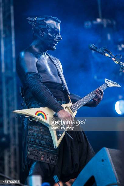 Wes Borland of Limp Bizkit performs on stage at Sonisphere at Knebworth Park on July 4 2014 in Knebworth United Kingdom