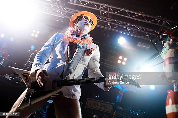Wes Borland of Limp Bizkit performs on stage for Kerrang Tour 2014 at O2 Academy on February 9 2014 in Liverpool United Kingdom