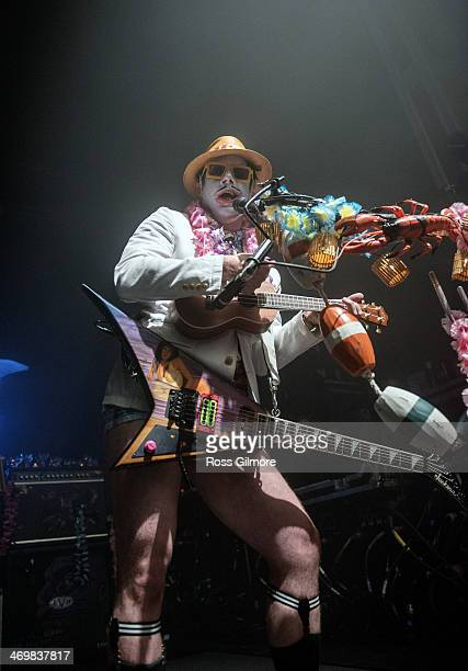 Wes Borland of Limp Bizkit performs on stage for Kerrang Tour 2014 at O2 Academy on February 16 2014 in Glasgow United Kingdom