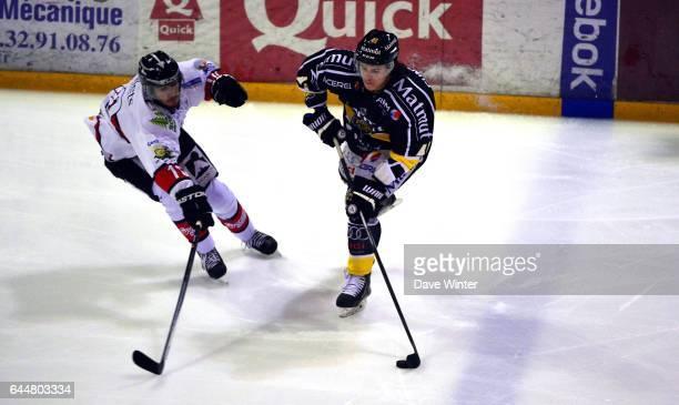Wes CUNNINGHAM / Jaka ANKERST Hockey sur glace Rouen / Briancon 1/2Finale Coupe de France Photo Dave Winter / Icon Sport