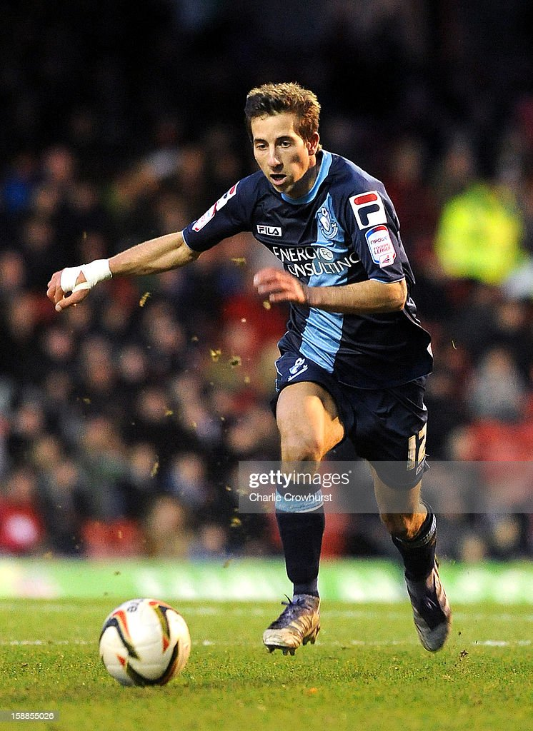 Wes Fogden of Bournemouth attacks during the npower League One match between Brentford and Bournemouth at Griffin Park on January 01, 2013 in London England.