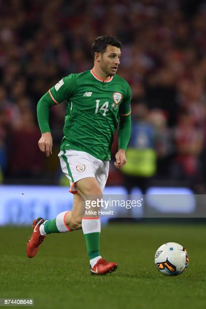 Wes Hoolahan of Ireland in action during the FIFA 2018 World Cup Qualifier PlayOff Second Leg between Republic of Ireland and Denmark at Aviva...