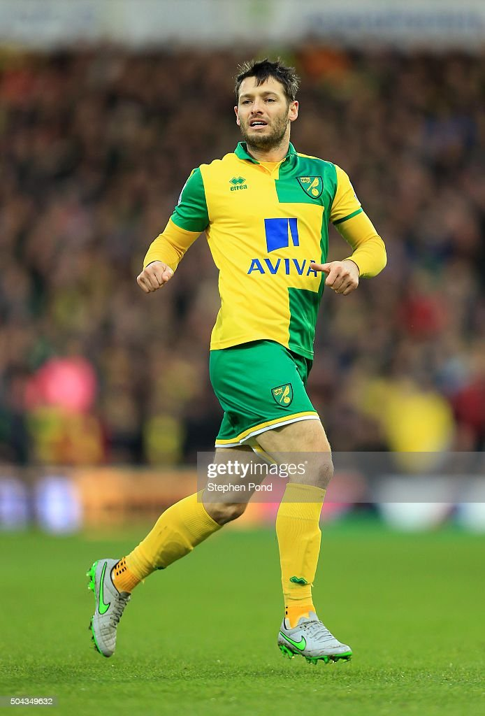 Wes Hoolahan of Norwich City during the Barclays Premier League match between Norwich City and Southampton at Carrow Road stadium on January 2 2016...