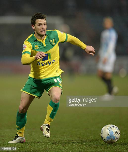 Wes Hoolahan of Norwich City during the Sky Bet Championship between Huddersfield Town and Norwich City at John Smiths Stadium on March 17 2015 in...