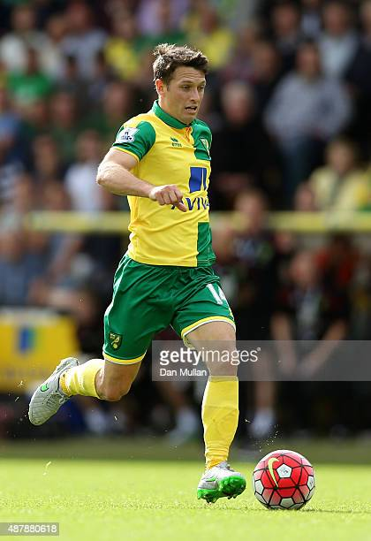 Wes Hoolahan of Norwich City in action during the Barclays Premier League match between Norwich City and AFC Bournemouth at Carrow Road on September...