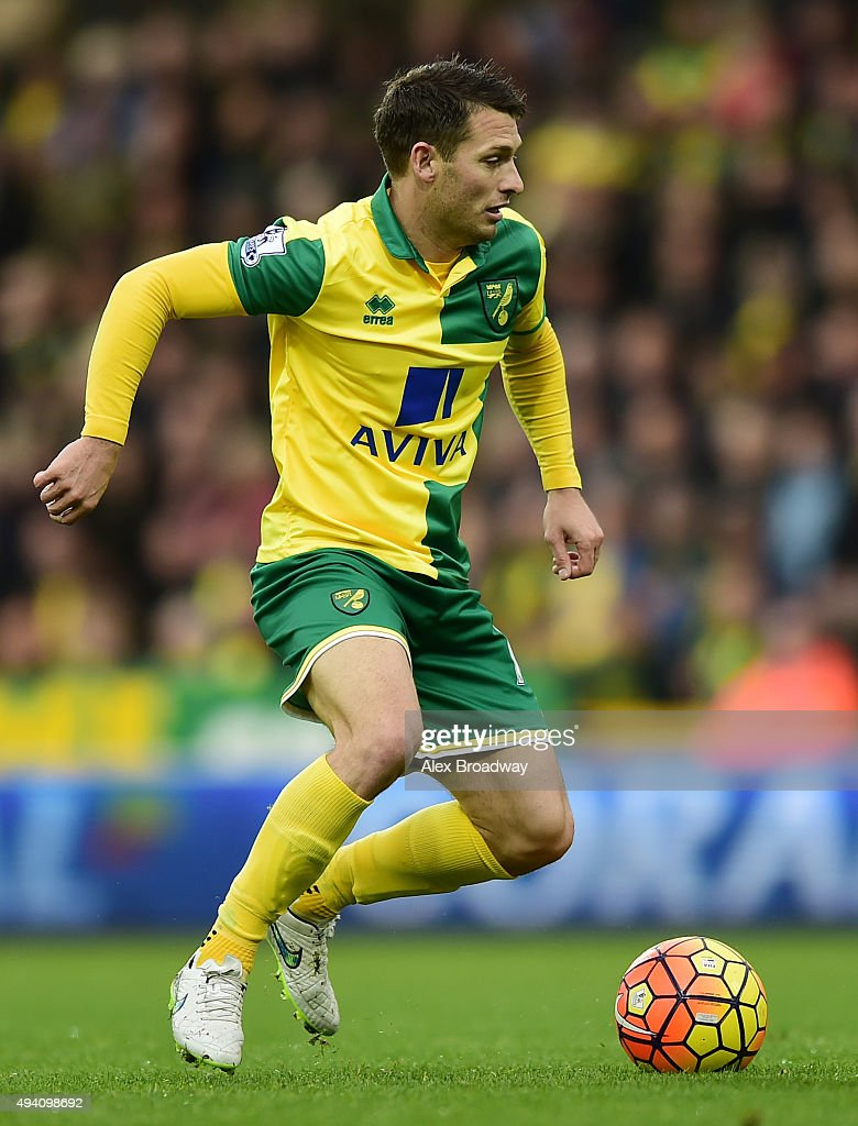 Wes Hoolahan of Norwich City in action during the Barclays Premier League match between Norwich City and West Bromwich Albion at Carrow Road on...