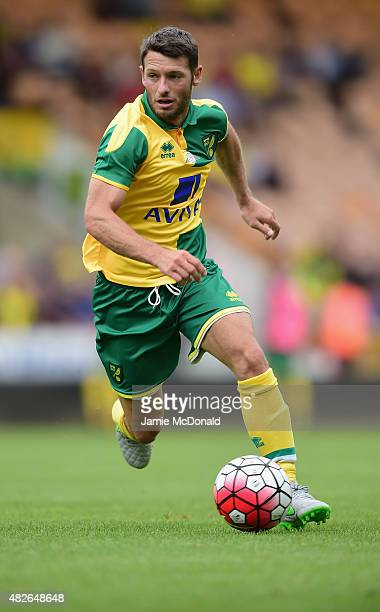 Wes Hoolahan of Norwich City in action during the pre season friendly match between Norwich City and Brentford at Carrow Road on August 1 2015 in...