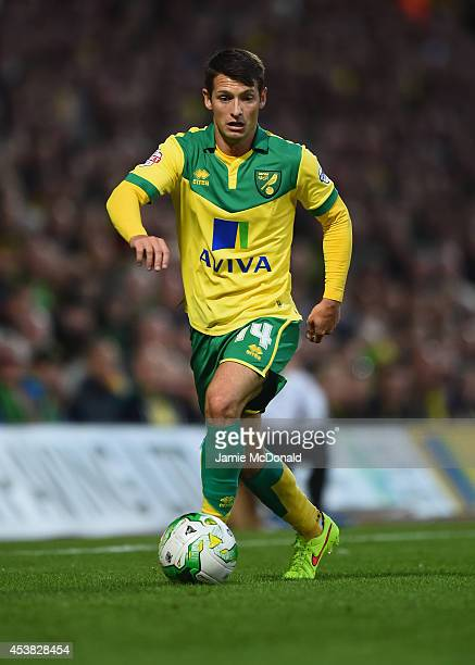 Wes Hoolahan of Norwich in action during the Sky Bet Championship match between Norwich City and Blackburn Rovers at Carrow Road on August 19 2014 in...