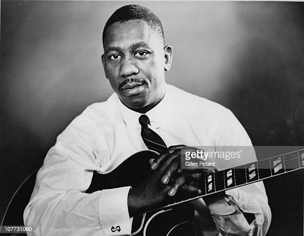Wes Montgomery poses for a studio portrait in 1960 in the United States