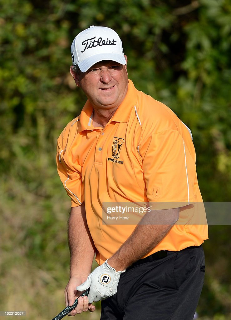 Wes Short Jr. watches his drive on the 13th hole during the second round of the Northern Trust Open at the Riviera Country Club on February 15, 2013 in Pacific Palisades, California.