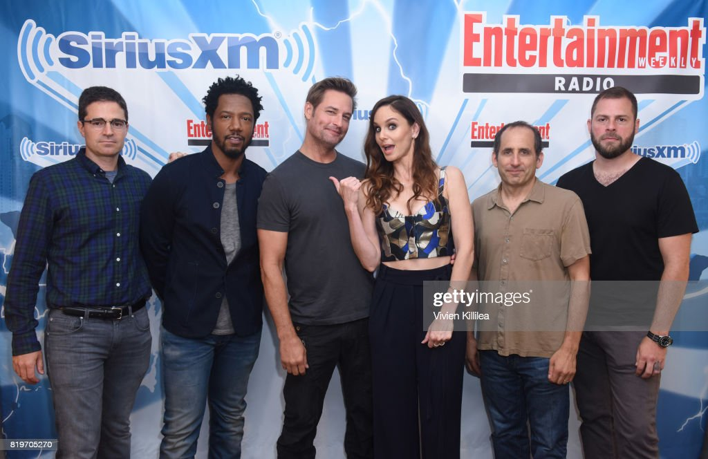 Wes Tooke, Tory Kittles, Josh Holloway, Sarah Wayne Callies, Peter Jacobson and Ryan Condal attend SiriusXM's Entertainment Weekly Radio Channel Broadcasts From Comic Con 2017 at Hard Rock Hotel San Diego on July 20, 2017 in San Diego, California.