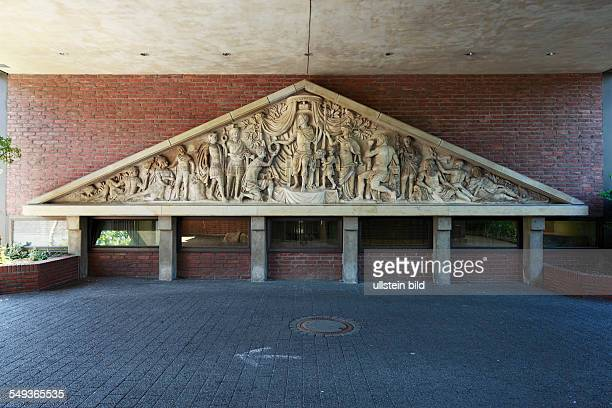 Wesel Lower Rhine North RhineWestphalia Klevet Town Gate frieze frieze of the former Kleve Town Gate relief figures people description