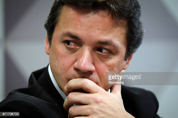 Wesley Batista former chief executive officer of JBS SA listens during a congressional inquiry hearing at the National Congress building in Brasilia...